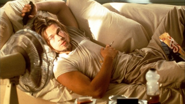 Brad Pitt smokes weed in True Romance