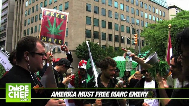 Free Marc Emery Rally Near U.S. Consulate