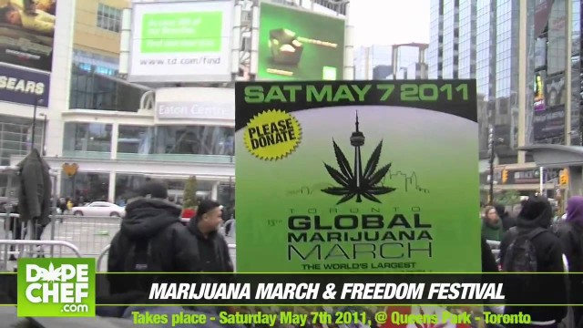 420 Smoke Out at Dundas Square 2011