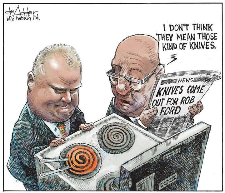 Rob Ford hot knifes