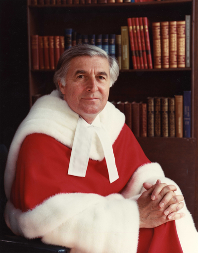 The Honourable Mr. Justice Gerald Eric Le Dain served on the Supreme Court from May 29, 1984 until November 30, 1988 / Supreme Court of Canada Collection