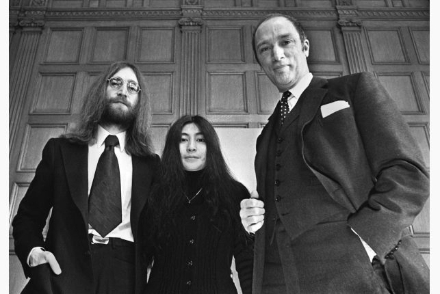 John Lennon and his wife Yoko Ono, in Canada on a crusade for peace, meet Prime Minister Pierre Trudeau in Ottawa on Dec. 24, 1969. Lennon shared his expertise with the Le Dain Commission, believing that marijuana was a catalyst for peace. / THE CANADIAN PRESS FILE PHOTO