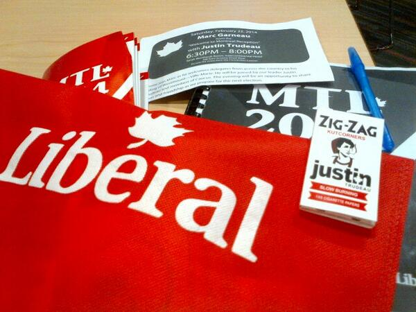 Justin Trudeau rolling papers Liberal