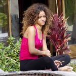 Rihanna smokes a hand rolled cigarette while vacationing in Hawaii