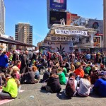 Easter Sunday  420 Rally for the legalization of marihuana at Dundas Square