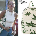 Miley Cyrus cannabis backpack1