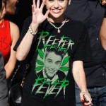 Miley Cyrus gets support from her mom, Tish, on 'Jimmy Kimmel Live' wearing another revealing outfit and a retro '2Pac' t-shirt in LA