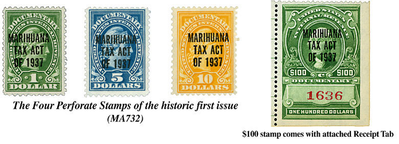 1st types of Marihuana Stamps
