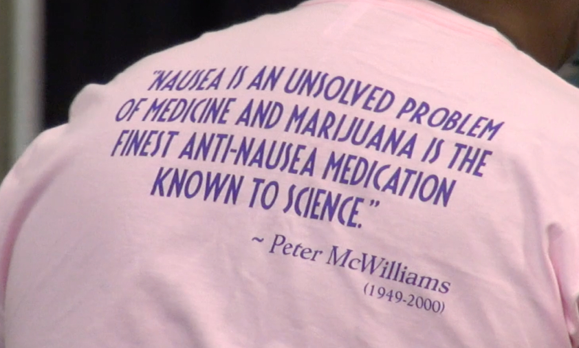 Peter McWilliams nausea quote shirt