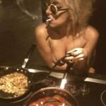 LadyGaga-smoking-while-cooking