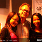 Marc Emery with lovely ladies