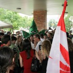 Free Marc Emery crowd gathered in Windsor 12-08-2014