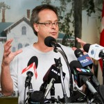 Free Marc Emery press statement in Windsor 12-08-2014