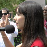 Jodie Emery makes a point in Windsor 12-08-2014