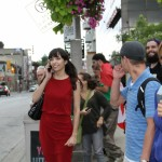 Jodie waits for Free Marc Emery in Windsor 12-08-2014