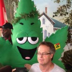 Marc Emery and the Herb talk to reporters in Windsor