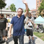 Marc Emery arrives at Rally in Vancouver 2014