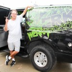 Marc Emery free at Werk420 limo with joint