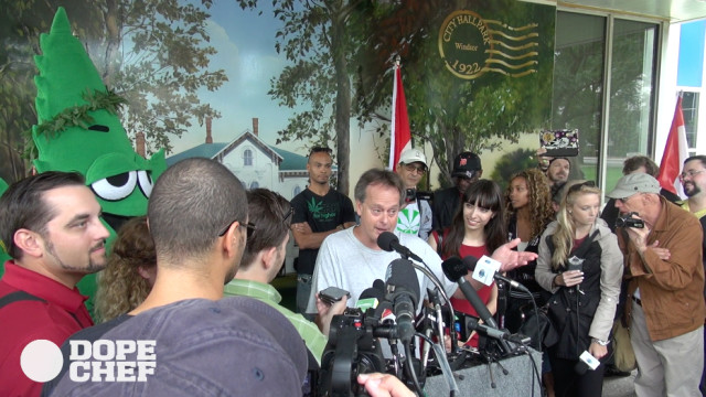 Marc Emery welcome back press conference