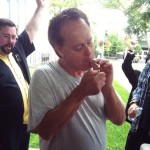 Marc Emery sparks first joint since prison release