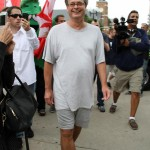 Marc Emery steps of freedom in Windsor Canada