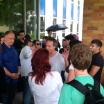 Marc Emery talks with the people in Windsor