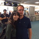 Marc and Jodie emery at Vancouver Airport