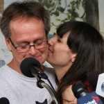Marc and Jodie kiss at Press Conference Windsor