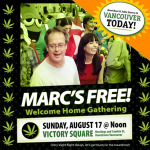 Marc is Free rally in Vancouver for victory