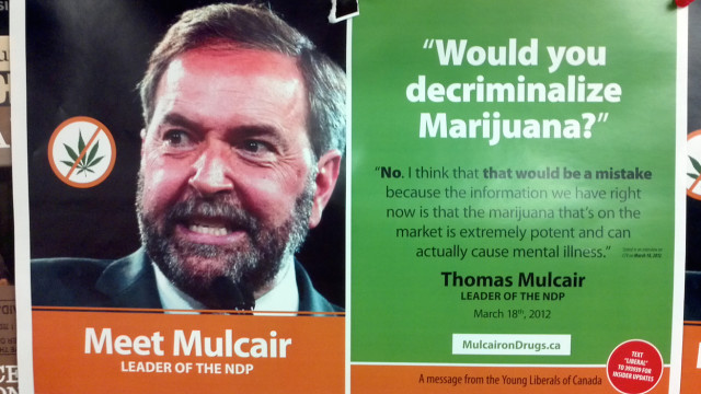 NDP Leader comments on weed