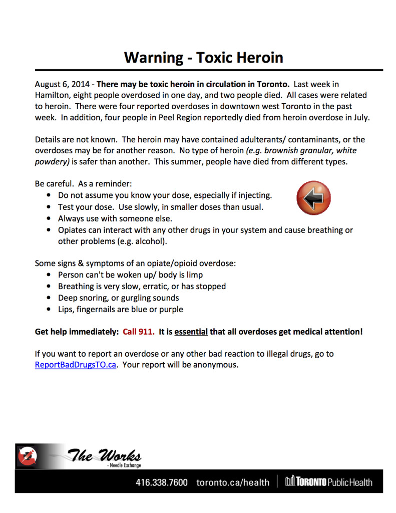 Toxic Heroin Notice August 2014