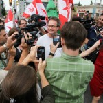 the walk of freedom Marc Emery released in Windsor