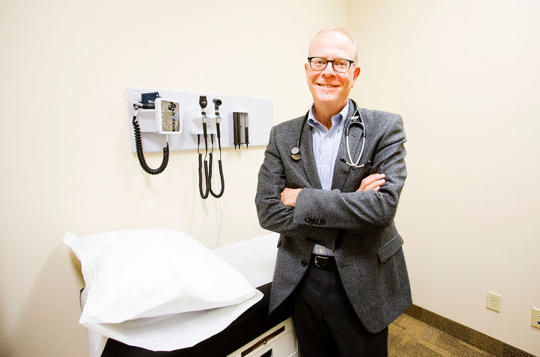 Dr. Barry Waisglass, is the in-house doctor at the first Canadian Cannabis Clinic in Niagara opened on King St. in St. Catharines on Tuesday September 16, 2014. Julie Jocsak/ St. Catharines Standard/QMI Agency
