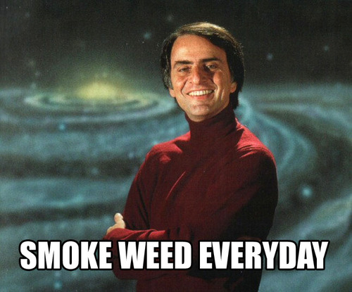 Carl Sagan smoke weed
