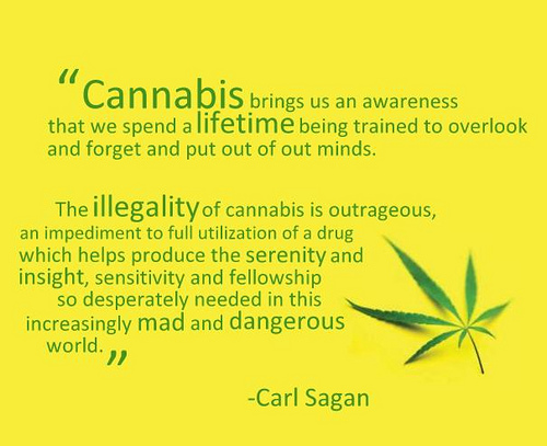Carl Sagan weed quote