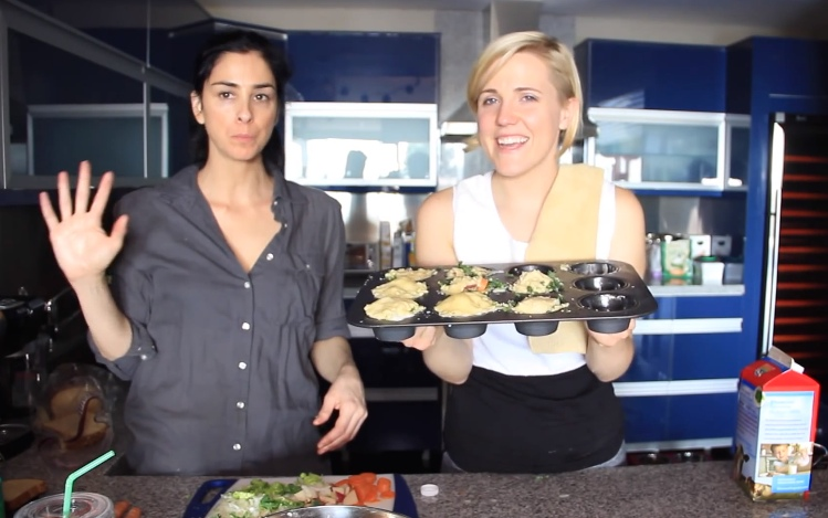 Sarah Silverman makes Veggie Pot Pie
