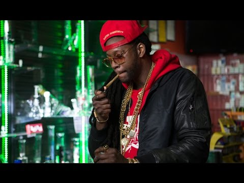 2 Chainz smokes a golden joint