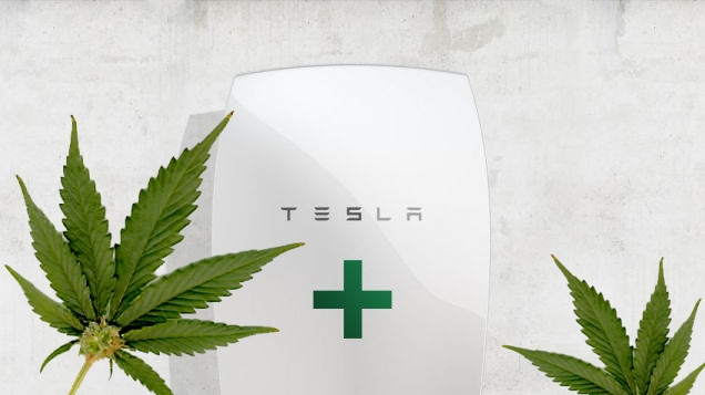 Tesla battery powered grow-op