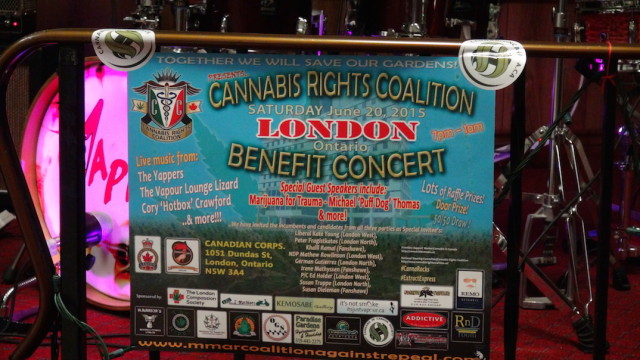 Cannabis Rights Coalition London Benefit