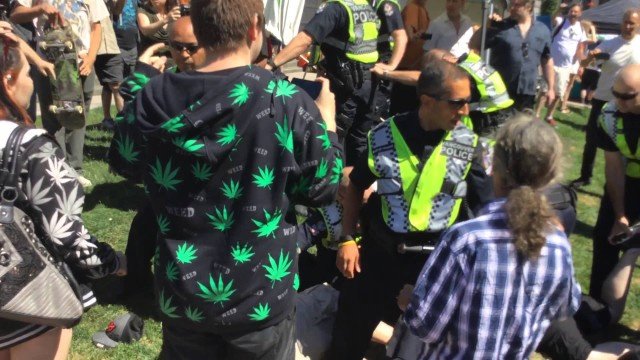 Vancouver Police go wild at Cannabis Day