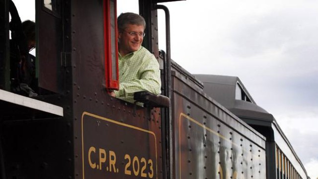 Stephen Harper campaigns for prohibition