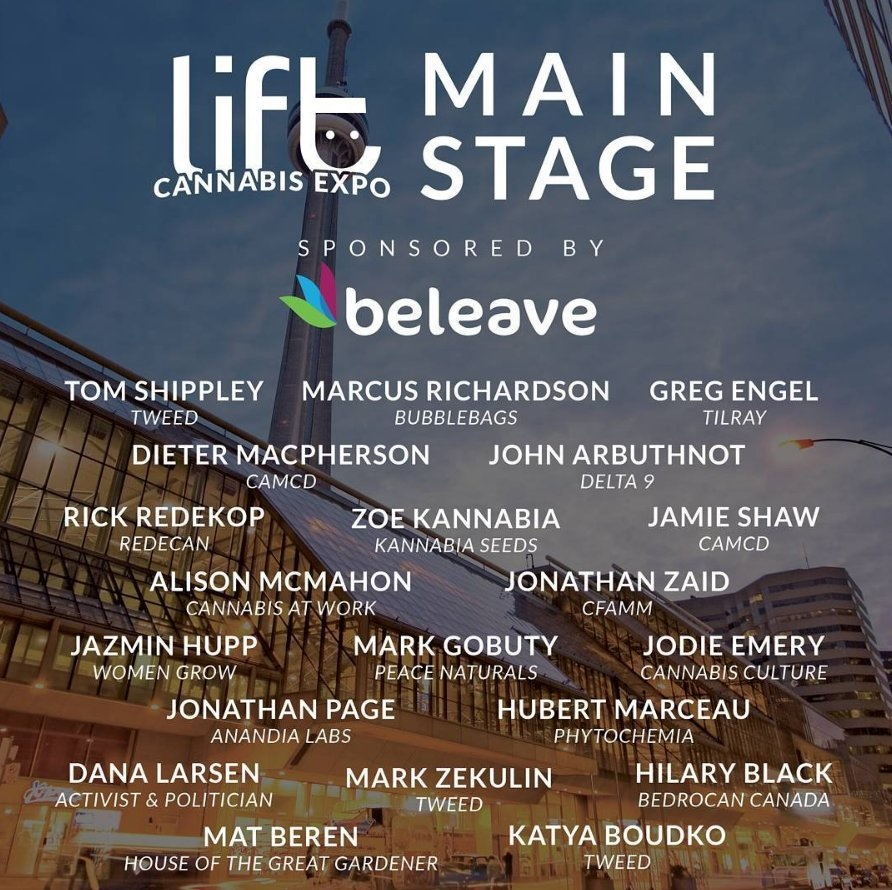 Lift cannabis expo main stage speakers