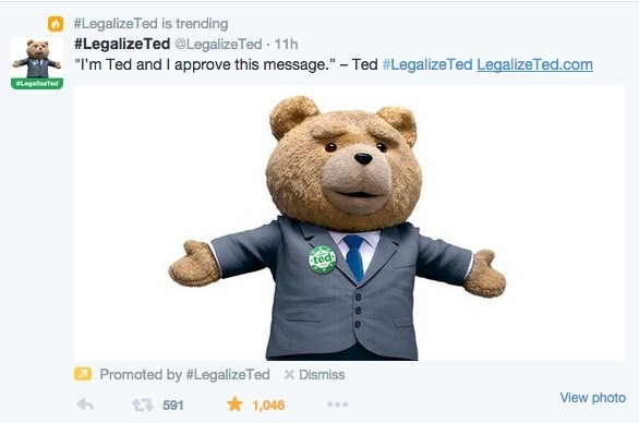 Legalize Ted trending