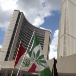 cannabis protest at Toronto City Hall