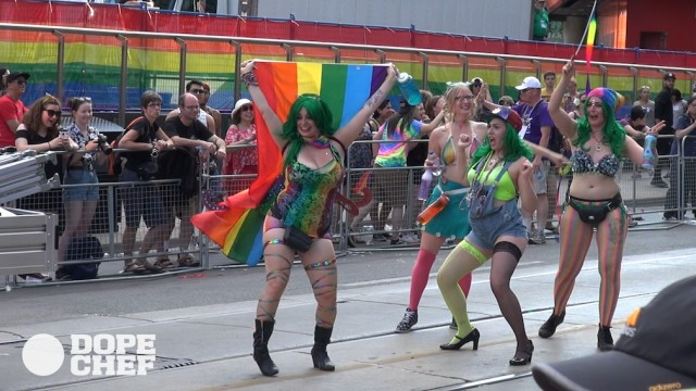 Cannabis delegation at Pride Parade 2016