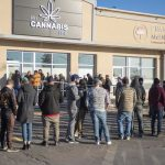 Canada legal cannabis lineup day one PEI