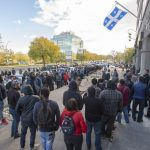 Canada legal cannabis lineup day one Quebec